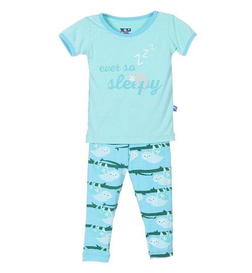 Kickee Pants Print S/S Pajama Set Confetti Sloth