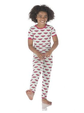 Kickee Pants Print S/S Pajama Set Watermelon