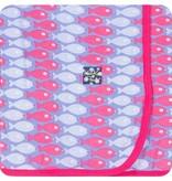 Kickee Pants Print Blanket, Forget Me Not Piranha
