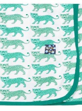 Kickee Pants Print Blanket, Natural Leopard