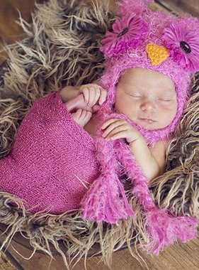 The Daisy Baby Kasper Pink Snow Owl Hat