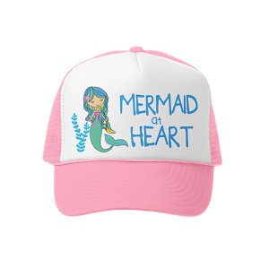 Grom Squad Trucker Hat Mermaid at Heart Pink/White