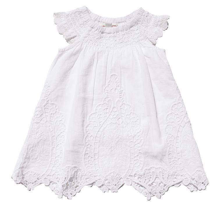 Mimi & Maggie 80053 French Tablecloth Dress White