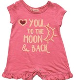 Mimi & Maggie 2334B-ROS To THe Moon and Back Romper, Rose