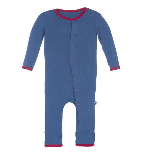 Kickee Pants Applique Coverall-Twi American Flag