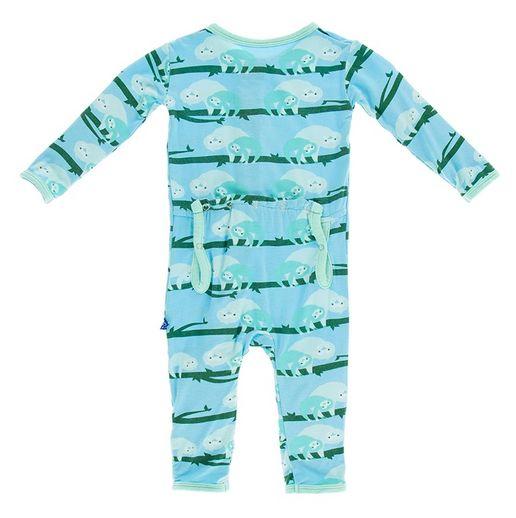 Kickee Pants Print Coverall-Confetti Sloth