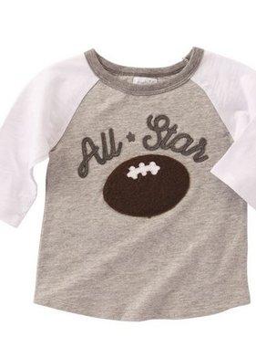 Mud Pie 1052173 All Star Football Tee