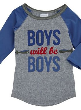 Mud Pie 1052160 Boys will be Boys Rash Guard