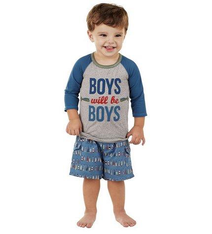 Mud Pie 1052160 Boys will be Boys Rash Guard