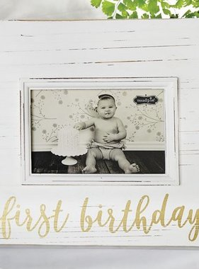 Mud Pie FIRST BIRTHDAY GOLD FRAME 4695407