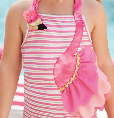 Mud Pie 1122122 Flamingo Swimsuit