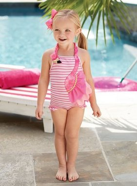 Mud Pie 1122122 Flamingo Swimsuit