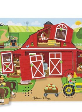Melissa & Doug Around the Farm Before and After Sound Puzzle
