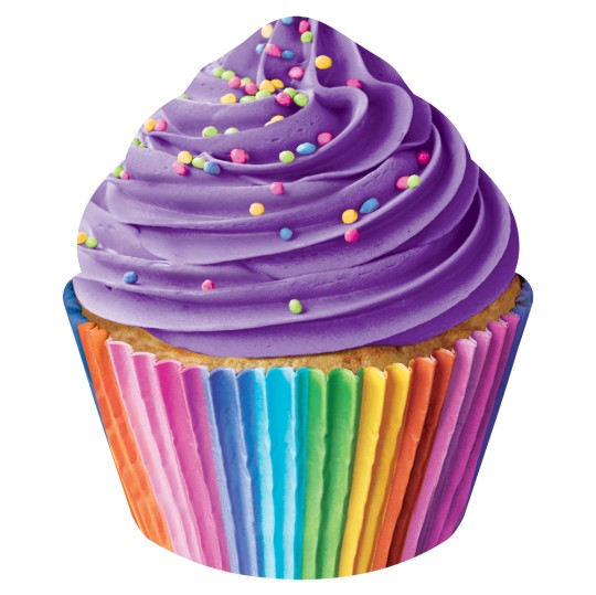 Iscream 780-613 Rainbow Cupcake Pillow