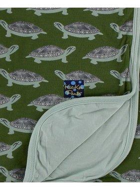 Kickee Pants Print Stroller Blanket Moss Turtle