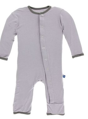 Kickee Pants Solid Coverall Pond with Stone