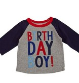 Mud Pie 1 BIRTHDAY BOY CAPE TSHIRT 1052171-18