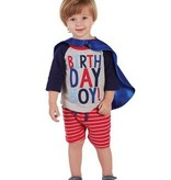 Mud Pie 2 BIRTHDAY BOY CAPE TSHIRT 1052171