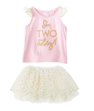 Mud Pie TWO BIRTHDAY TUTU SKIRT SET 1112330