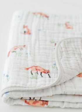 Little Unicorn UB0231 Cotton Muslin Quilt - Fox