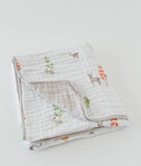 Little Unicorn UB0230 Cotton Muslin Quilt - Deer