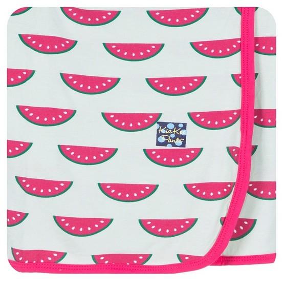 Kickee Pants Print Swaddling Blanket Watermelon