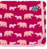 Kickee Pants Swaddling Blanket Rhod. Brown Bear