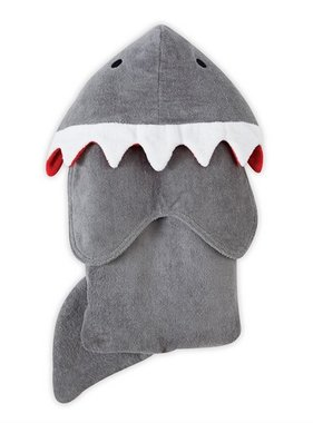 Mud Pie SHARK HOODED TOWEL 2132017