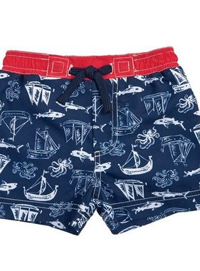Mud Pie 1022110 Shark Swim Trunks