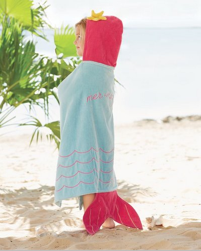 Mud Pie MERMAID HOODED TOWEL 2132018