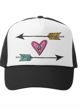 Grom Squad Arrows of Love Trucker Hat, Black/White