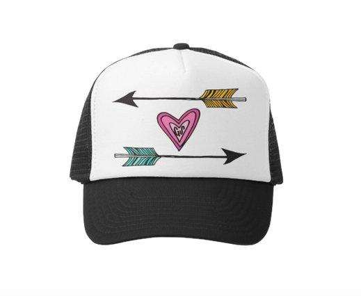 Grom Squad Arrows of Love Trucker Hat, Black/White