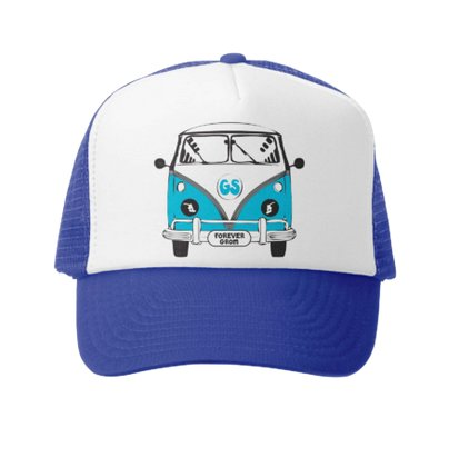 Grom Squad Busin Air Trucker Hat, Royal/White
