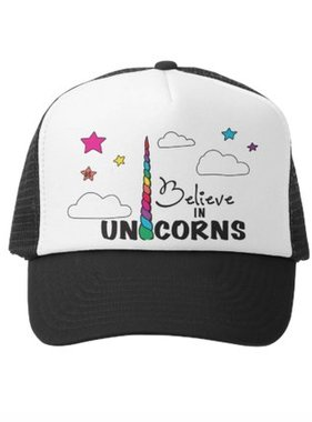 Grom Squad Believe in Unicorns Trucker Hat Bl/Wh