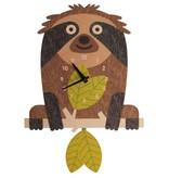 Modern Moose Tree Sloth Pendulem Clock PCPEN057