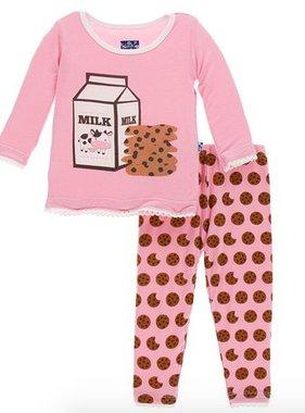 Kickee Pants Print LS PJ Set Lotus Cookies PRESALE