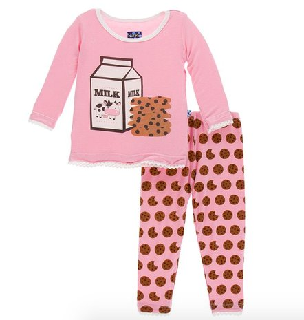 Kickee Pants Print LS PJ Set Lotus Cookies