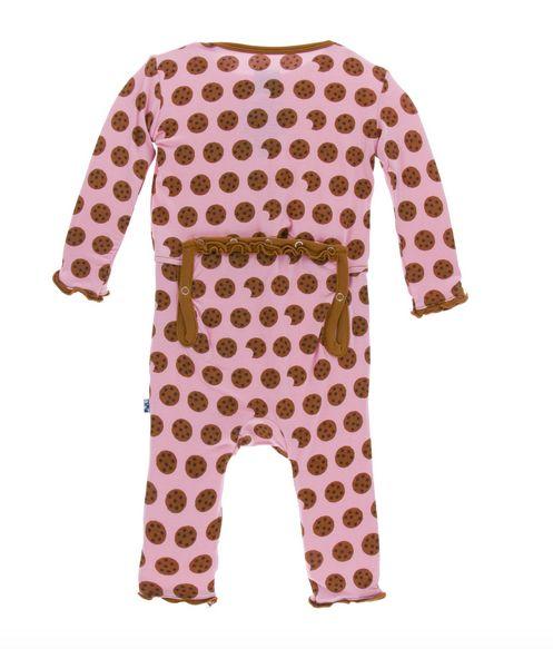 Kickee Pants Print Muffin Ruffle Coverall Snaps Lotus Cookies