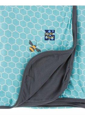 Kickee Pants Print Blanket Glacier Honeycomb