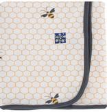 Kickee Pants Print Blanket Natural Honeycomb