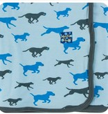 Kickee Pants Print Blanket Pond Running Labs
