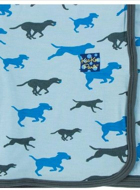 Kickee Pants Print Blanket Pond Running Labs
