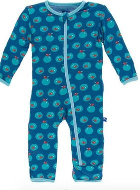 Kickee Pants Print Coverall ZIPPER Twilight Fishbowl