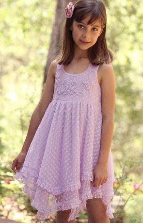 Mimi & Maggie 8665 Claire Dress Lavender