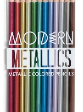 Ooly 128-111 Modern Metallics Colored Pencils- Set of 12