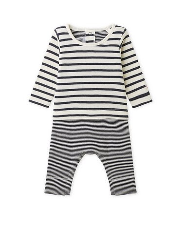 Petite Bateau 25198 Labcoat LS Top with Attached Leggings Nvy