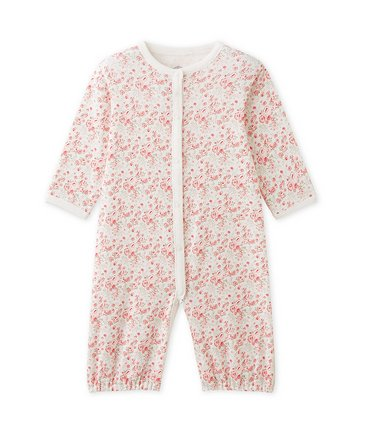Petite Bateau 25100 Lange LS Floral Gown