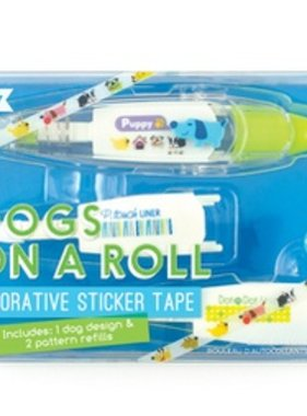 Ooly 167-002 Dogs On A Roll Deco Tape & Refills