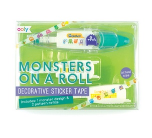 Ooly 167-004 Monsters On A Roll Deco Tape & Refills