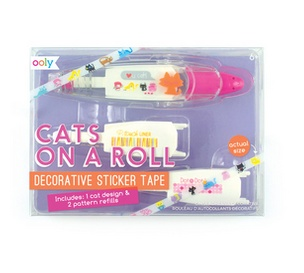 Ooly 167-003 Cats On A Roll Deco Tape & Refills